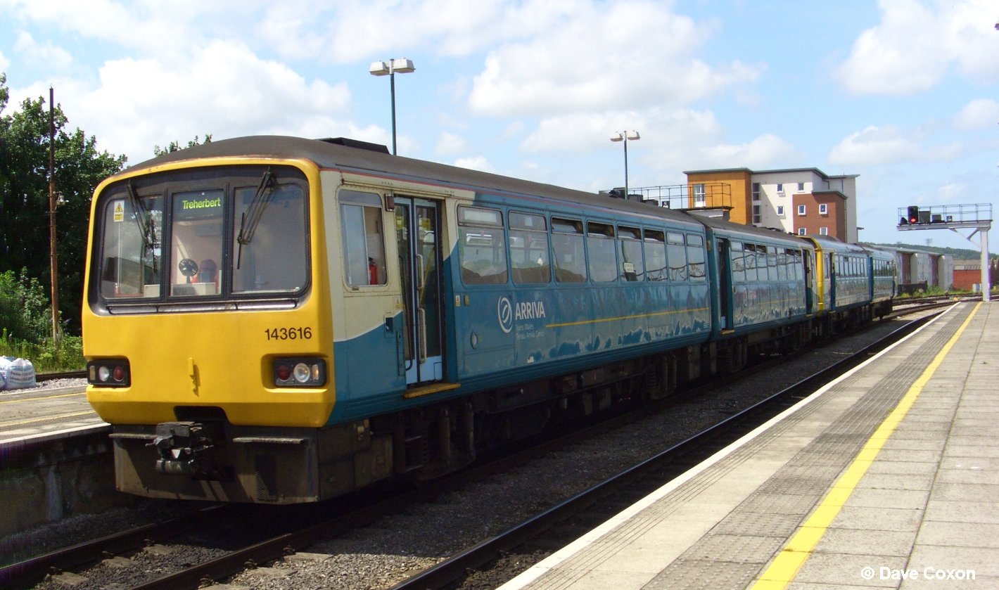 143616 in Arriva Trains Wales
